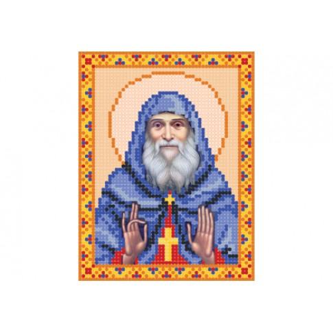 "Bead embroidery pattern of icon ""Saint Archimandrite Gabriel Urgebadze"""