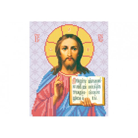 """Bead embroidery pattern of icon """"Christ Pantocrator"""""""