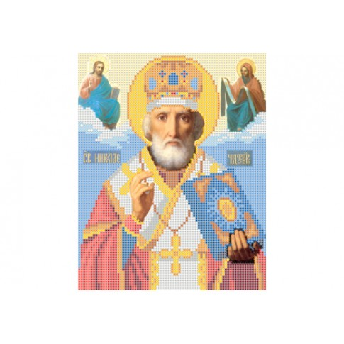 "Bead embroidery pattern of icon ""Saint Nicholas"""