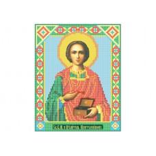 """Saint Pantaleon"" - Bead embroidery pattern of icon"