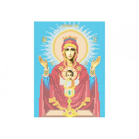 "Bead embroidery pattern of icon ""Mother of God Inexhaustible Chalice"""