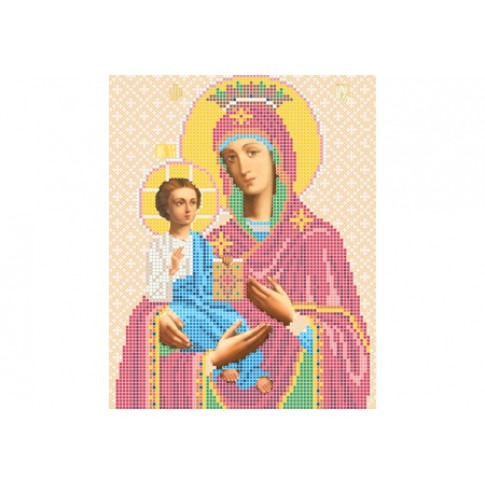 "Bead embroidery pattern of icon ""Three-handed Theotokos"""