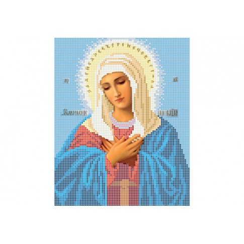 """Bead embroidery pattern of icon """"Mother of God of Tenderness"""""""