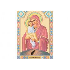 """Theotokos of Pochayiv"" - Bead embroidery pattern of icon"