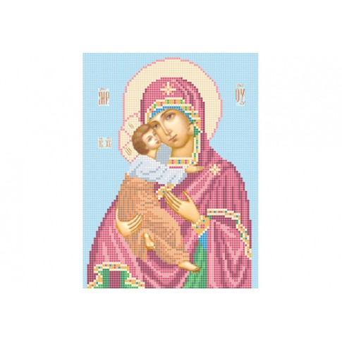 """Bead embroidery pattern of icon """"Our lady of Vladimir"""""""