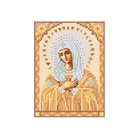 "Bead embroidery pattern of icon ""Mother of God of Tenderness A5"""