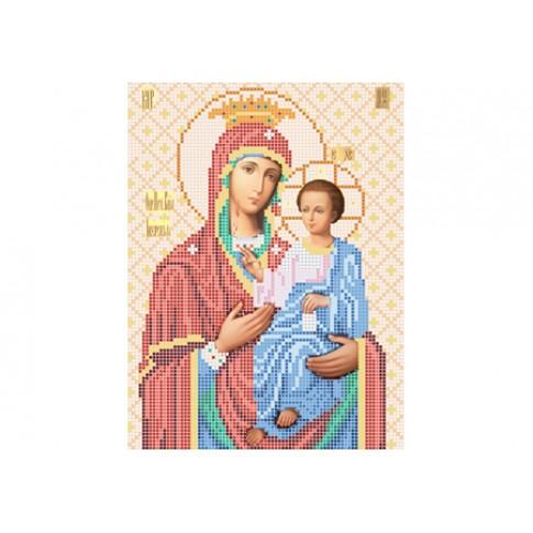 "Bead embroidery pattern of icon ""Panagia Portaitissa"""