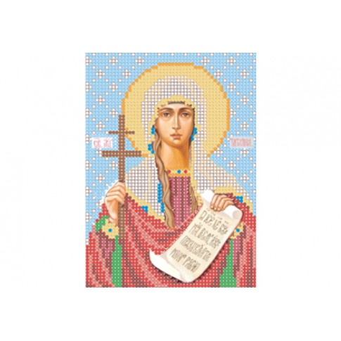 "Bead embroidery pattern of icon ""Saint Tatiana of Rome"""