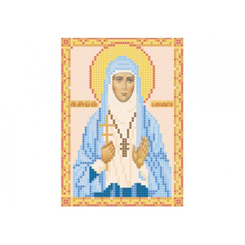 "Bead embroidery pattern of icon ""Saint Elisabeth"""