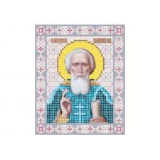 """Saint Sergius of Radonezh"" - Bead embroidery pattern of icon"