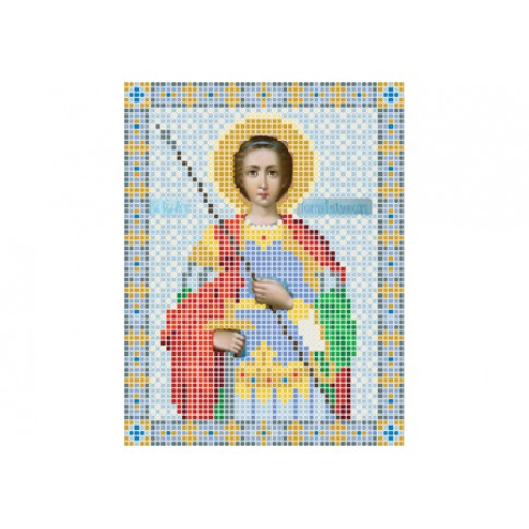 "Bead embroidery pattern of icon ""Saint George"""