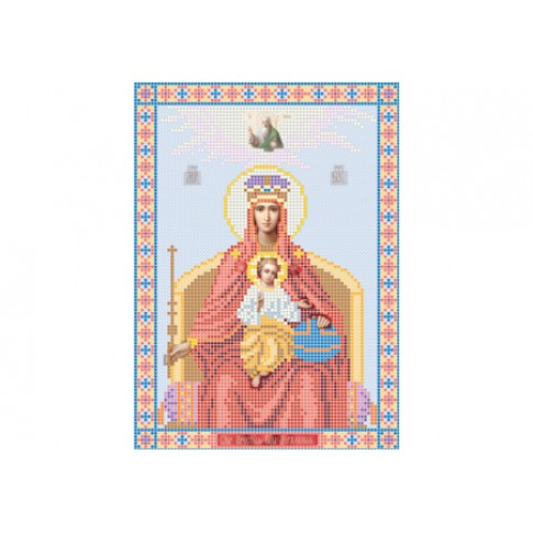 "Bead embroidery pattern of icon ""Our Lady The Sovereign"""