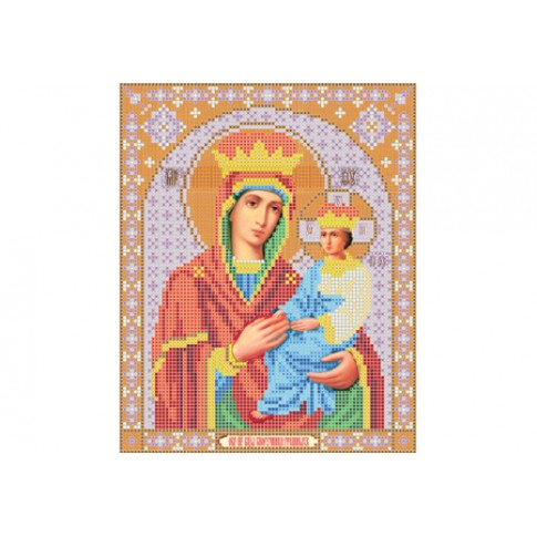 """Bead embroidery pattern of icon """"Mother of God Surety of Sinners"""""""