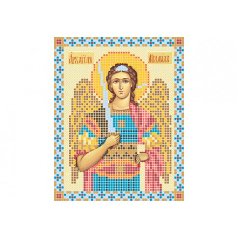 """Bead embroidery pattern of icon """"Archangel Michael"""""""