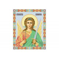 """Guardian Angel"" - Bead embroidery pattern of icon"