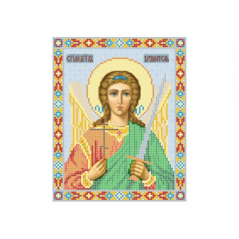 "Bead embroidery pattern of icon ""Guardian Angel"""