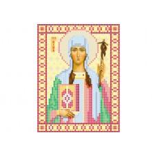 """Saint Nino"" - Bead embroidery pattern of icon"