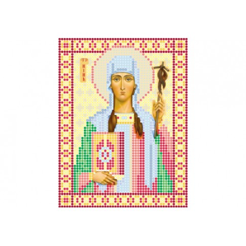 "Bead embroidery pattern of icon ""Saint Nino"""