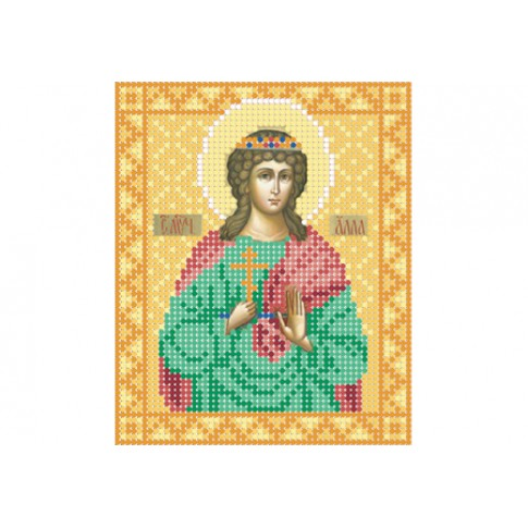 "Bead embroidery pattern of icon ""Saint Alla"""