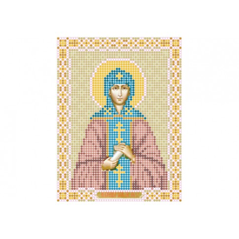 "Bead embroidery pattern of icon ""Saint Anne"""