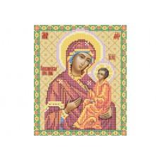 """Theotokos of Tikhvin"" - Bead embroidery pattern of icon"