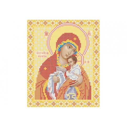 "Bead embroidery pattern of icon ""Theotokos Chalice of Patience"""