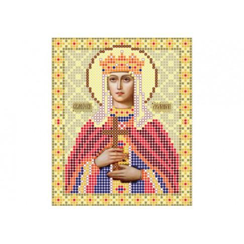 "Bead embroidery pattern of icon ""Saint Ludmila of Bohemia"""