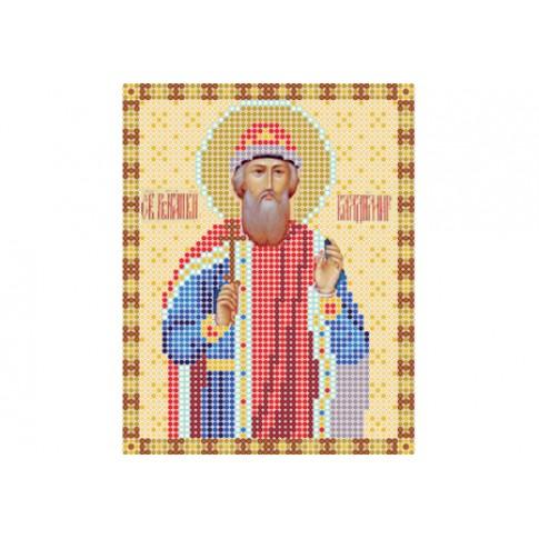 "Bead embroidery pattern of icon ""Saint Vladimir"""