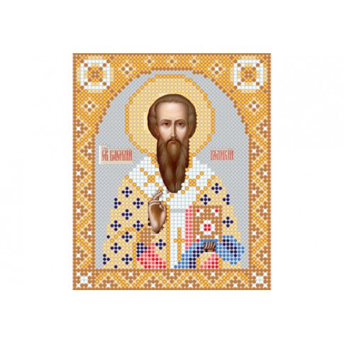 "Bead embroidery pattern of icon ""Saint Basil the Great"""