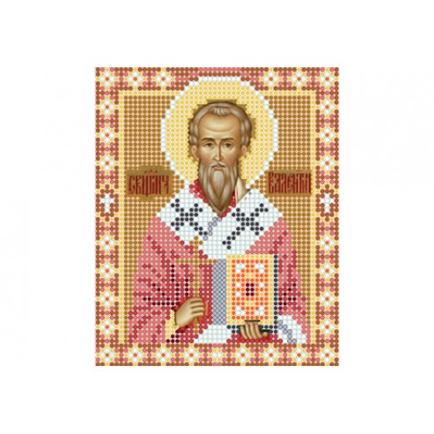"Bead embroidery pattern of icon ""Saint Valentine of Terni"""