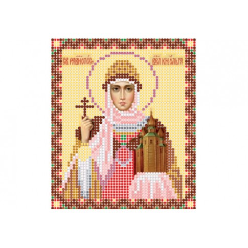 "Bead embroidery pattern of icon ""Saint Olga"""