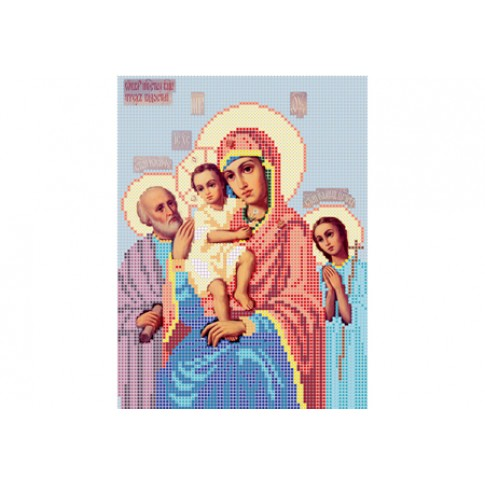 "Bead embroidery pattern of icon ""Mother of God The Three Joys"""
