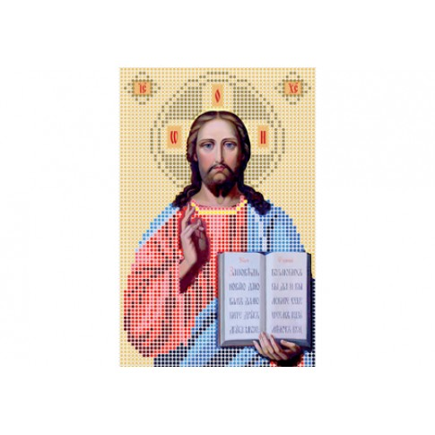 """Bead embroidery pattern of icon """"Christ Pantocrator A5"""""""