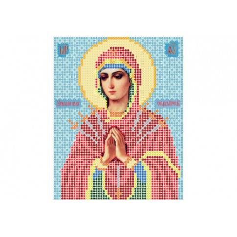 "Bead embroidery pattern of icon ""Our Lady of the Seven Sorrows"""