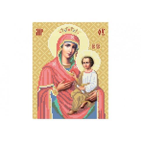 "Bead embroidery pattern of icon ""Mother of God Skoroposlushnitsa"""