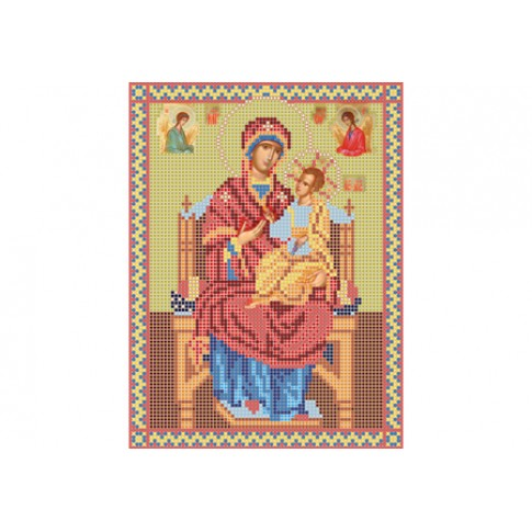 "Bead embroidery pattern of icon ""Mother of God Vsetsaritsa"""