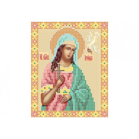 "Bead embroidery pattern of icon ""Saint Irene"""