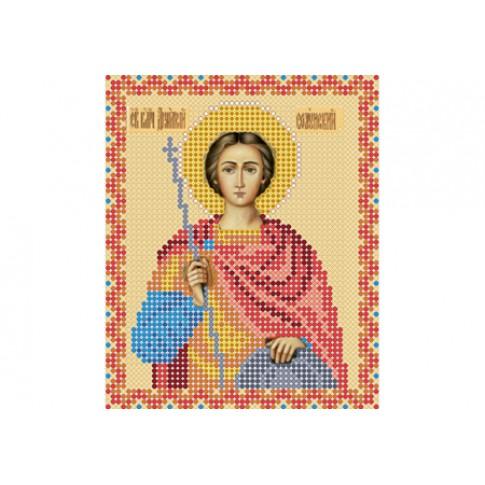 "Bead embroidery pattern of icon ""Saint Demetrius of Thessaloniki"""