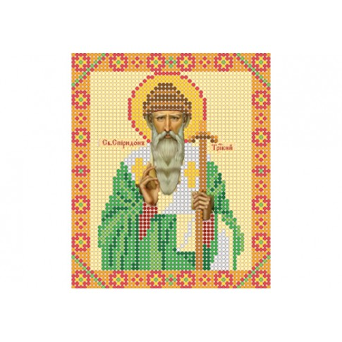 "Bead embroidery pattern of icon ""Saint Spyridon, Bishop of Trimythous"""