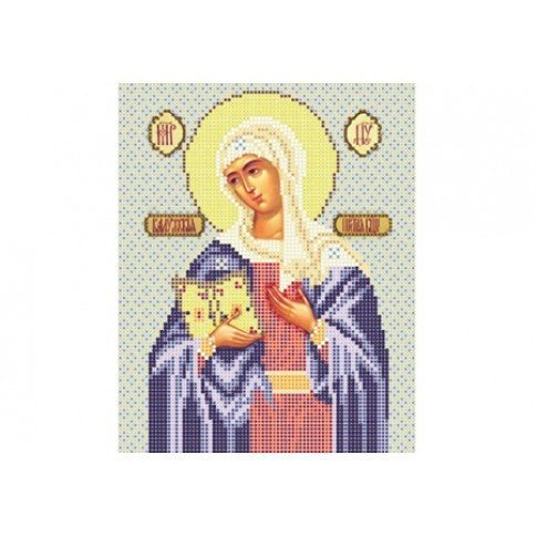 "Bead embroidery pattern of icon ""Our Lady of Kaluga"""