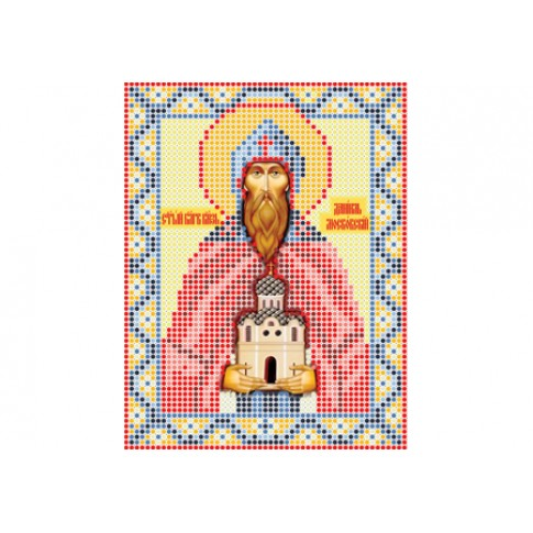 """Bead embroidery pattern of icon """"Saint Daniel of Moscow"""""""