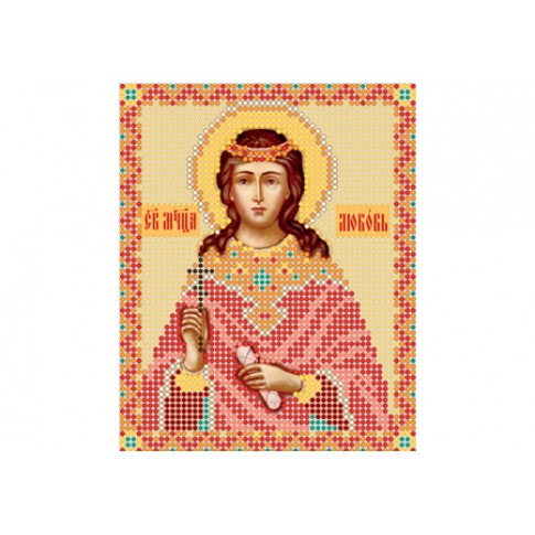 """Bead embroidery pattern of icon """"Saint Charity"""""""