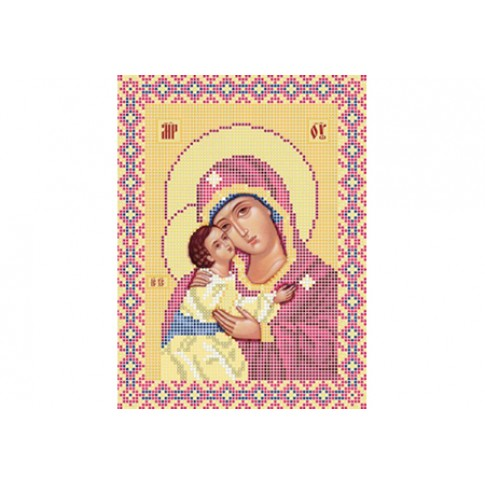 "Bead embroidery pattern of icon ""Mother of God Igorevskaya"""