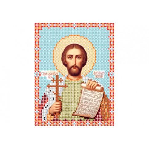 "Bead embroidery pattern of icon ""Saint Alexander Nevsky"""