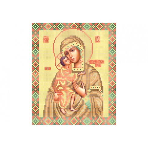 """Bead embroidery pattern of icon """"Mother of God Feodorovskaya"""""""