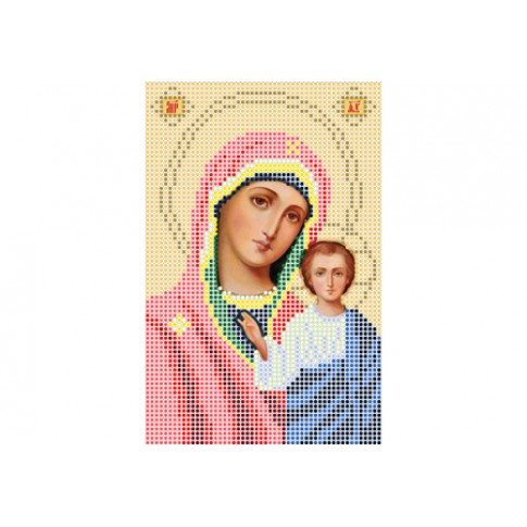 "Bead embroidery pattern of icon ""Our Lady of Kazan A5"""