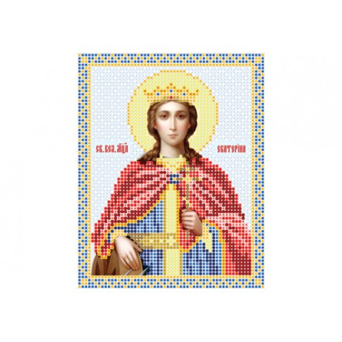 "Bead embroidery pattern of icon ""Saint Catherine of Alexandria"""