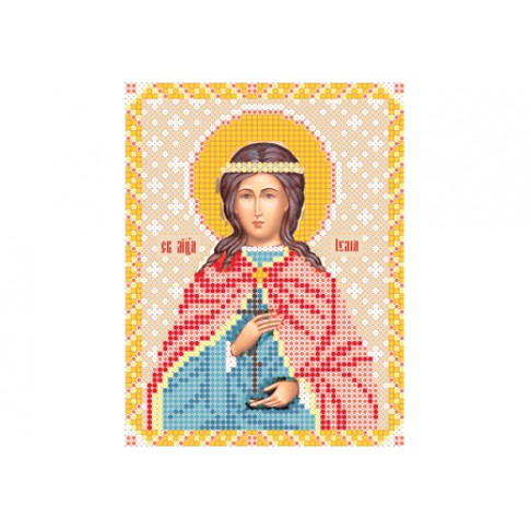 "Bead embroidery pattern of icon ""Saint Julia of Corsica"""