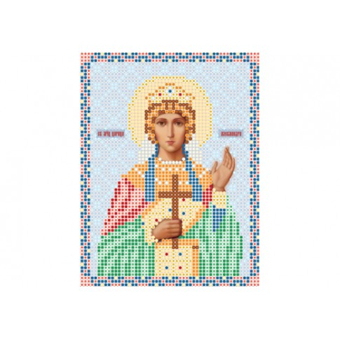 """Bead embroidery pattern of icon """"Saint Alexandra of Rome"""""""