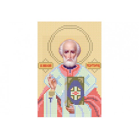 """Bead embroidery pattern of icon """"Saint Nicholas A5"""""""